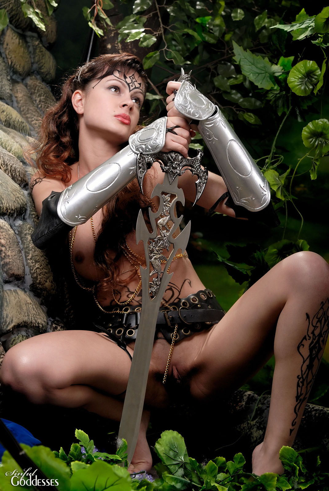 Lady warrior porn erotic photos