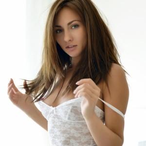Michaela Isizzu White Lace Bodysuit