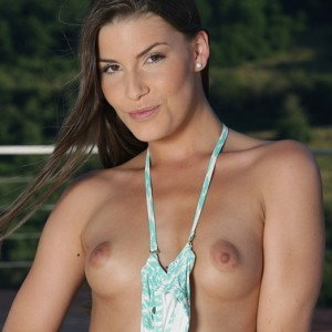 Ennie Taking Off Her Bikini