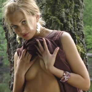Lilya Slipping Her Dress Off on a Picnic