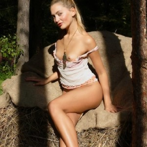 Lilya Nude in the Barn
