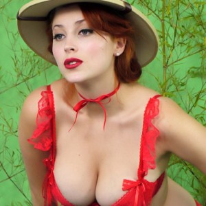 Hot Redhead Lucy on Safari