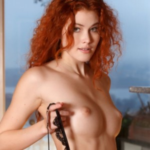 Perfect Redhead Adel Gets Nude