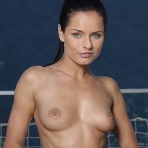Kari Nude by the Pool