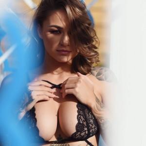 Mica Martinez in Black Lingerie